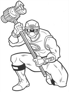 Power Rangers Dino Thunder Coloring Pages | power ranger ...