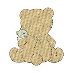 URSO COM BEBÊ VERSO 2 Baby Kit, Applique Patterns, Gingerbread Cookies, Patches, Teddy Bear, Embroidery, Crochet, Cards, Animals