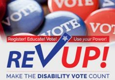 "REV UP: Register, Educate, Vote and Use your Power | American Association of People with Disabilities (AAPD) | In addition to resources for registering to vote and learning more about the candidates and disability campaign issues, this page also provides tools for organizing voter registration campaigns. AAPD also participated in the ""2016 Presidential Candidate Questionnaire,"" which is linked on this page. 