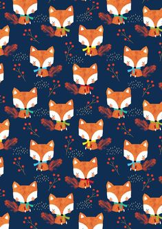 ❁❀Epinglé par CM ❃✿Alex Willmore - alternative version of autumn fox (Pattern) Tier Wallpaper, Fall Wallpaper, Animal Wallpaper, Pattern Wallpaper, Wallpaper Backgrounds, Iphone Wallpaper, Wildlife Wallpaper, Trendy Wallpaper, Textures Patterns