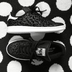 Adidas Stan Smith Black Animal Print