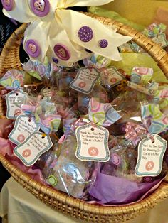 """Cute As A Button baby shower favors - """"Thank you SEW much for coming!"""""""