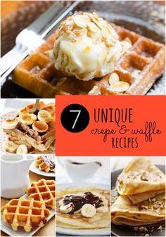 7 Unique Crepe and Waffle Recipes
