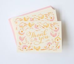 Butterfly Thank You Cards - Set of 6
