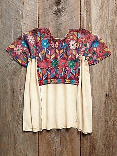 vintage embroidered peasant top