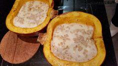Gevulde pompoen met mozzarella