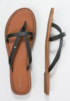 998c09d958d161 NADIA - T-bar sandals - black - Zalando.co.uk. Black SandalsRoxyFlippingFlip  FlopsBlack ...