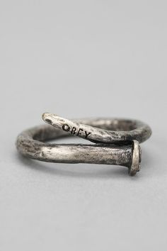 OBEY Craftsmen Ring, Bent Nail Design. I feel like you would like this @cheryl ng ng ng ng Spencer