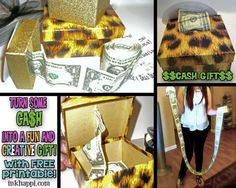 Yep.i like ca$h!! Here is a fun and creative way to gift cash with a personal touch. Super easy idea with free printable at inkhappi.com