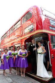 London Routemaster wedding bus