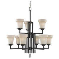 Sea Gull Lighting�9-Light Cardwell Misted Bronze Chandelier