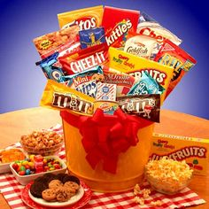 Why it's great: Giving a gift basket doesn't have to cost a pretty penny! You can find tons of gift baskets at Walmart at prices that won't empty your wallet. Gifts we love: Junk Food Madness Gift Basket for $50.99 (above), Deli Direct Wisconsin Cheese and Sausage Gift Basket for $48.59, and Snack Time Favorites Gift Basket for $44.94