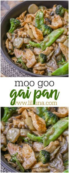 Delicious Moo Goo Gai Pan recipe - chicken, snow peas, broccoli and mushrooms covered in a delicious Asian sauce. Cooking Recipes, Healthy Recipes, Bacon Recipes, Shrimp Recipes, Vegetarian Recipes, Asian Cooking, Mets, The Fresh, Main Dishes
