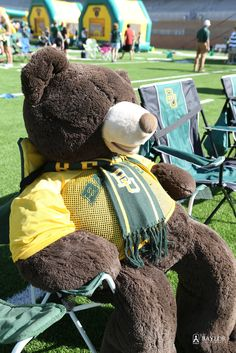 Pro tip: Get a giant teddy bear and dress it up to save your spot during Baylor tailgating. No one will know the difference...