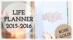 Erin Condren Life Planner Rose Gold Edition — Pretty Shiny Sparkly