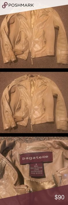 Bagatelle 100% Leather Camel Jacket Bagatelle 100% Leather Jacket Camel Bagatelle Jackets & Coats