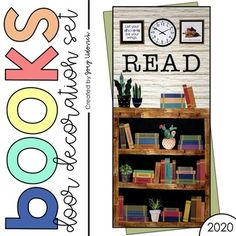 This classroom bookshelf is filled with quality book topics that our students think about and can relate to on a daily basis. Great for a classroom door, bulletin board, classroom library wall, school library, school hallway, counselor's office and so much more. This is not just a beautiful display but a great conversation starter too. Book topics include: attitude, positivity, mindset, hard work, acceptance, change and more! #JoeyUdovichDoor #ClassroomDoor #BulletinBoard #SchoolDisplay… Middle School Classroom, Classroom Door, Classroom Organization, Classroom Ideas, Bulletin Board Display, Bulletin Boards, Read Letters, School Hallways, Library Wall