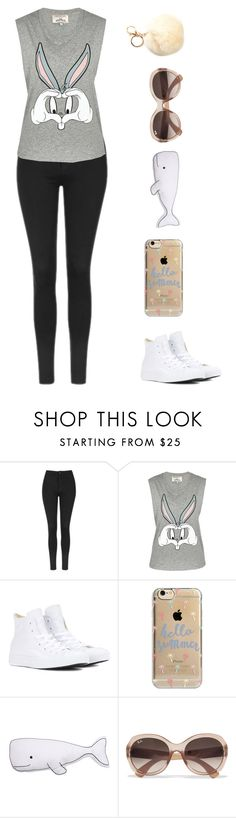 """""""Cotton tail"""" by sasha06527 ❤ liked on Polyvore featuring Topshop, Paul & Joe Sister, Converse, Agent 18 and Ray-Ban"""