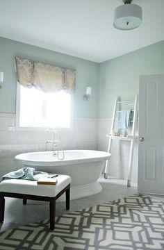 bathroom color and rug