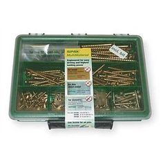 Spax 4101020000767 Multimaterial Screw Assortment Kit, Small, Yellow Zinc by Spax. $33.39. From the Manufacturer                SPAX construction screws can be used for multiple jobs. They can be used in wood, masonry, sheet metal, plastic, particle board, drywall. They are designed for easy driving without pre-drilling and superb tear out resistance. These screws are manufactured by ABC, one of the world's oldest and largest manufacturer of fasteners.