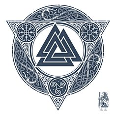 Picture result for valknut tattoo - Tattoo - Tatouage Viking Tattoo Symbol, Norse Tattoo, Viking Tattoo Design, Viking Tattoos, Tattoo Symbols, Nordic Symbols, Viking Symbols, Celtic Tattoos For Men, Tattoos For Guys
