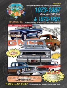 1973 - 1987 Chevrolet / GMC truck & 1973 - 1991 Blazer/Jimmy, Suburban, Crew Cab & Dually