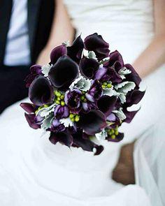 dark purple and silver wedding flowers - Google Search