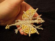 3D Metallic Seed Bead Dragon by *Industrial-Pop on deviantART