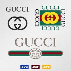 Gucci Logo Svg, Dxf, Eps Vector Files for Silhouette, Cricut, Cutting Plotter