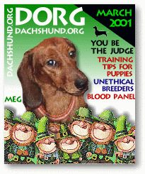 DORG - The Dachshund Magazine On-Line! Health and rescue.DORG - The Dachshund Magazine On-Line!