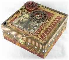 Vintage Altered Box  www.tarascraftstudio.com