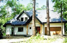 Front domu Jesion #dom #projekt #realizacja