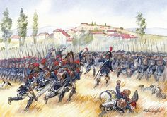 French; Lannes attack at the Battle of Montebello, 9th June 1800 by P.Courcelle