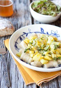 ricotta gnocchi w/ butter braised summer squash • five and spice