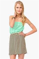 Tube top with chevron skirt $24.99