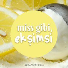 Limonlu gelato; miss gibi, hafif de ekşimsi! Tıpkı Pazartesi gibi!  #AbbasWaffleAnkara #LimonluGelato Gelato, Ankara, Waffles, Instagram Posts, Food, Ice Cream, Essen, Waffle, Meals