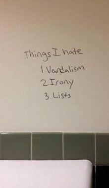 vandalism...
