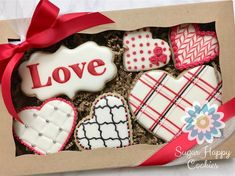 140 Likes, 2 Comments - Sugar Happy Cookies Valentines Day Cookies, Decorated Cookies, Cookie Decorating, Bullet Journal, Sugar, Cakes, My Favorite Things, Videos, Happy