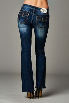 Cello Jeans - Dark blue bootcut jeans