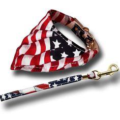 America The Beautiful Bandana Collar and Leash from BonRan Home Plus for $23.75 on Square Market