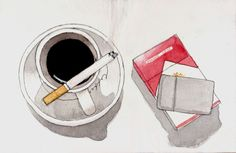 My dads morning every day. Even with a zippo and Marlboro Reds. Even though I hate cigarettes I miss the smell of coffee and cigarettes early in the morning. Informations About Fashion · Beauty· L Red Aesthetic Grunge, Aesthetic Art, Aesthetic Anime, Aesthetic Vintage, Cigarette Drawing, Cigarette Smoke, Rauch Fotografie, Malboro, Marlboro Red