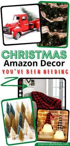 Find the best affordable amazon home decor Christmas finds this holiday season. Have the best merry Christmas this 2020 with these amazing budget-friendly home decor last-minute gift ideas and decorations. All the home decor Christmas inspiration and ideas you need for your apartment decor. Amazon Christmas Decorations, Amazon Christmas Gifts, Christmas Tree Candles, Handmade Christmas Tree, Christmas Crafts For Gifts, Holiday Signs, Christmas Signs, Holiday Wreaths, Christmas Home