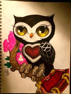 Wise Owl by Chaos-Doiteain Pinned by www.myowlbarn.com