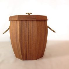 Vintage Mid Century Teak And Brass Handled by EchoesInTimeVintage