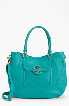 Tory Burch 'Amanda - Angelux' Leather Hobo available at #Nordstrom (love the color, size and structure)
