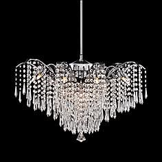 """Rebecca 24 1/2"""" Wide Clear Crystal Pendant Light"""