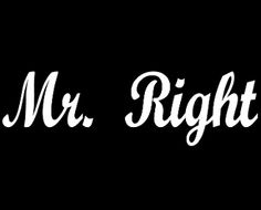 New Custom Screen Printed T-shirt Mr.  Right Small - 4XL Free Sh