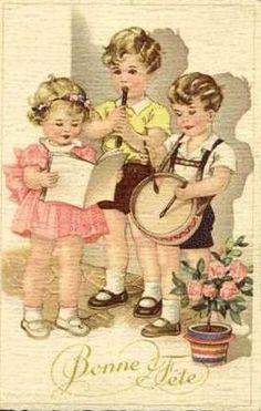 Carte ancienne de bonne fête