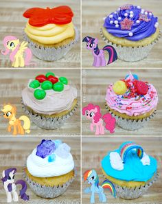 Grand Galloping Gala - My Little Pony Cupcakes!!---Going to make these cupcakes!!!  these are perfect