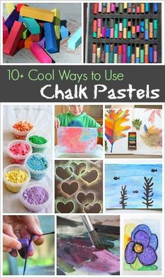 Cool Ways to Use Chalk Pastels Art Projects and Activities for Kids: Over 10 cool ways to use oil pastels for creating- including stencils, ocean scenes, flowers, and proc Chalk Pastel Art, Chalk Pastels, Oil Pastels, Cool Art Projects, Projects For Kids, Deco Restaurant, Art Vintage, Preschool Art, Art Classroom